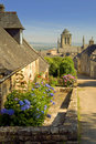 Locronan in  brittany Royalty Free Stock Photo