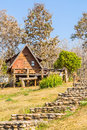 Lodging houses at mae chaem chiang mai province thailand Stock Photo