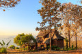 Lodging houses at mae chaem in the morning chiang mai province thailand Royalty Free Stock Images