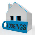 Lodgings house means room or apartment available meaning Royalty Free Stock Image