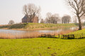 Loevestein castle netherlands medieval behind a moat and a rampart Royalty Free Stock Photos