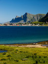 Lofoten coastal landscape Royalty Free Stock Photography