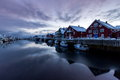 Lofoten iceland typical village in Stock Photography