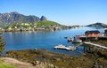 Lofoten island in norway arctic fishing village scenery of Stock Image