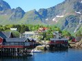 Lofoten island in norway arctic fishing village scenery of Royalty Free Stock Image