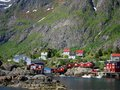 Lofoten island in norway arctic fishing village scenery of Stock Images