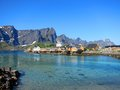 Lofoten island in norway arctic scenery of islands Royalty Free Stock Image