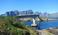 Lofoten island in norway arctic scenery of islands Royalty Free Stock Photography