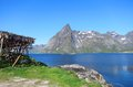 Lofoten island in norway arctic scenery of islands Royalty Free Stock Photos