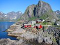 Lofoten island in norway arctic scenery of islands Stock Photography