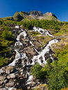 Lofoten mountains landscape Stock Photos