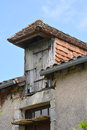 The loft hatch on an old French villa Royalty Free Stock Photo