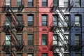 Lofts with fire escapes Stock Photography