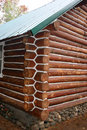 Log Cabin Chinking Royalty Free Stock Image