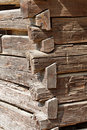 Log Cabin Corner Detail Royalty Free Stock Photos