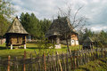 Log cabin old chalets placed on mount zlatibor done in the traditional style exceptionally well preserved and still in use the Royalty Free Stock Photo