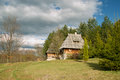 Log cabin old chalets placed on mount zlatibor done in the traditional style exceptionally well preserved and still in use the Stock Photos
