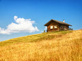 Log cabin old at the european alps Royalty Free Stock Images