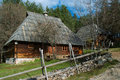 Log cabin old placed on mount zlatibor done in the traditional style exceptionally well preserved and still in use the huts were Royalty Free Stock Images