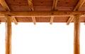 Log cabin porch Royalty Free Stock Photo