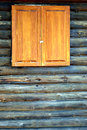 Log cabin wall. Stock Photo