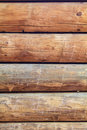 Log cabin wall vertical close up of five logs that are part of a traditional all in parallel Stock Images