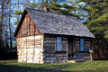 Log cabin in the woods restored pioneer nestled port sanilac historical village port sanilac michigan Stock Images