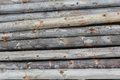 Log fence close up for background Royalty Free Stock Photography