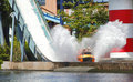 Log flume fairground ride Stock Photo