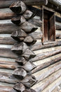 Log Home Construction Stock Photos