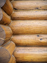 Log home wall exterior wood Stock Photography