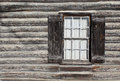 Log Home Window Royalty Free Stock Photo