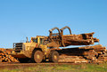 Log Loader Stock Image