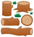 Log theme collection Royalty Free Stock Photo