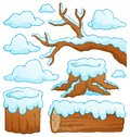 Log theme collection eps vector illustration Royalty Free Stock Image