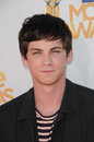 Logan lerman at the mtv movie awards arrivals gibson amphitheatre universal city ca Stock Photos