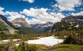 Logan pass scenic  landscape in Glacier national park, MT Royalty Free Stock Photo