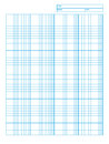 Logarithmic engineering graph paper Stock Photos
