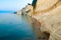 Loggas beach peroulades beach sunset beach corfu island gree beautiful view of the at Stock Image