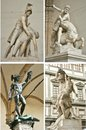 Loggia dei lanzi art in florence city italy perseus with the head of medusa statue by benvenuto cellini the gallery on the edge of Royalty Free Stock Photography