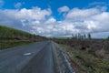 Logging Road On Mountain Royalty Free Stock Photo