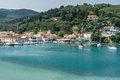 Loggos bay on the island of paxos a stopping point for sailing holidays in ionian sea Royalty Free Stock Photos