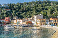 Loggos on the island of paxos small village Royalty Free Stock Images