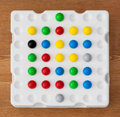 Logic board game with balls colorful Royalty Free Stock Images