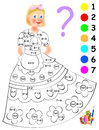 Logic exercise for children. Need to paint image in relevant color. Developing skills