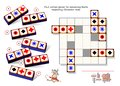 Logic puzzle game for children and adults. Find correct places for remaining blocks respecting Chromino rules. Royalty Free Stock Photo