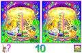 Logic puzzle game for children and adults. Need to find 10 differences. Developing skills for counting.