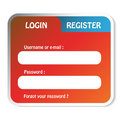 Login form Royalty Free Stock Image