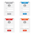 Login forms collection of in various colors Royalty Free Stock Photos