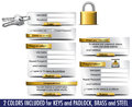 Login Password Registration web elements Royalty Free Stock Image